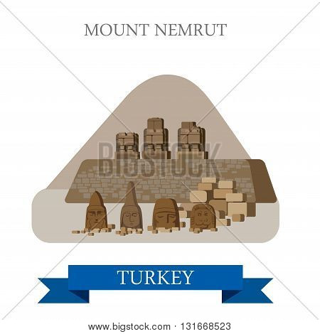 Mount Nemrut in Turkey attraction tourist attraction landmark