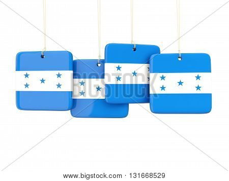 Square Labels With Flag Of Honduras