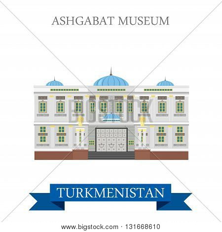 Ashgabat Museum in Turkmenistan attraction travel sightseeing