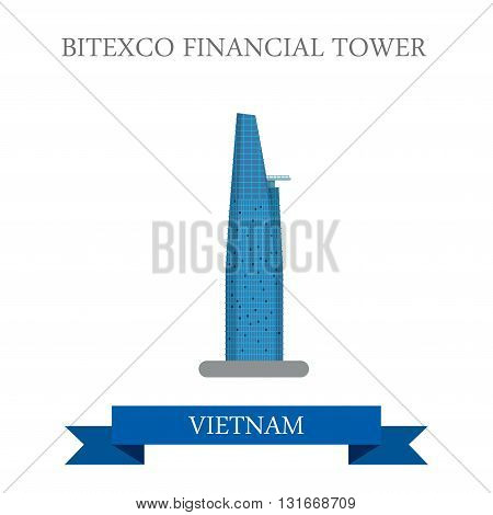 Bitexco Financial Tower in Ho Chi Minh City Vietnam attraction
