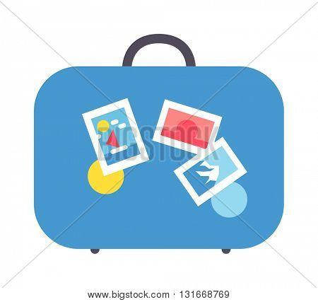 Travel suitcase vector illustration.