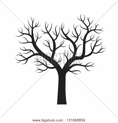 Shape of Black Tree. Vector Illustration and Graphic elements.