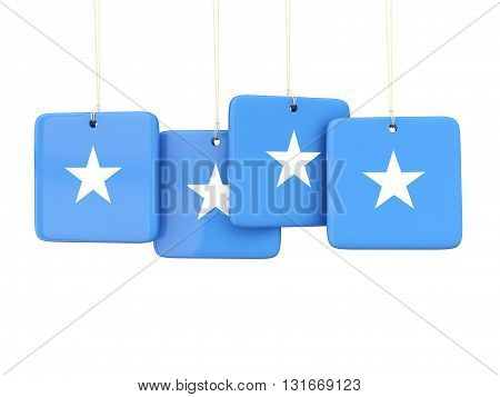 Square Labels With Flag Of Somalia
