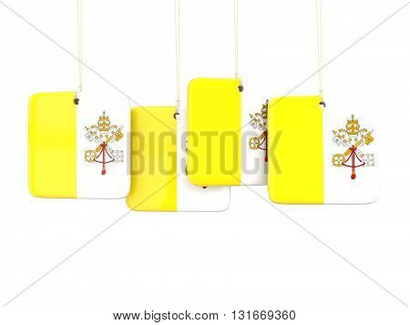 Square Labels With Flag Of Vatican City