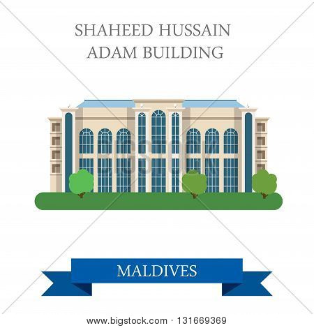 Shaheed Hussain Adam Building Maldives vector flat attraction