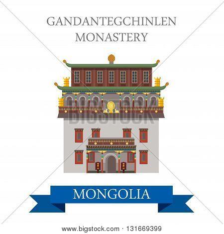 Gandantegchinlen Monastery Ulaanbaatar Ulan Bator Mongolia