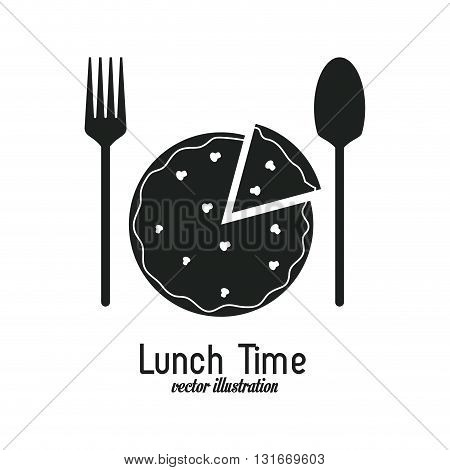 Lunch time concept with icon design, vector illustration 10 eps graphic.