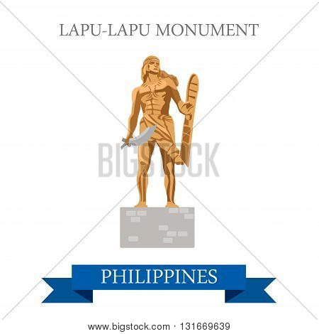 Lapu-Lapu Monument Mactan Island Philippines vector attraction