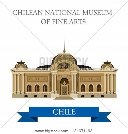Chilean National Museum of Fine Arts Chile vector attraction