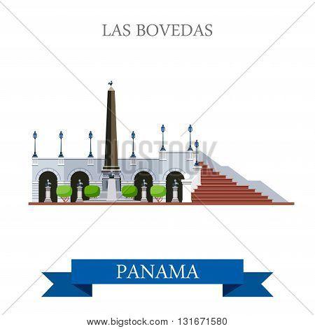 Las Bovedas in Panama vector flat attraction landmarks