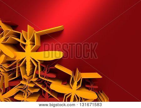 Virus diseases transmitter. Mosquitoes silhouette. 3D rendering