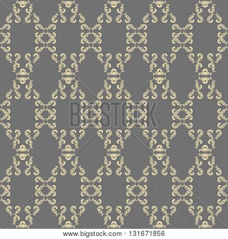 Seamless vector golden ornament. Modern geometric pattern with repeating elements