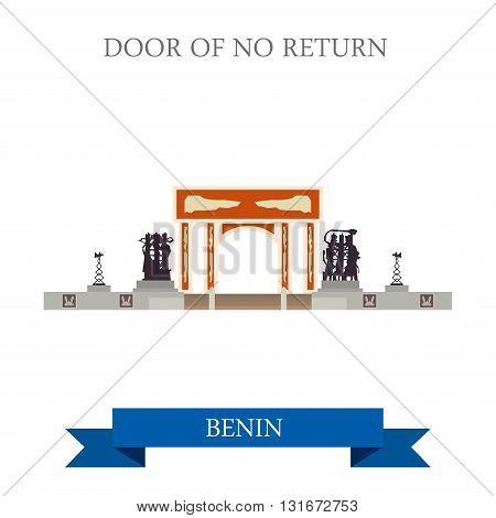 Door of No Return Benin vector flat Africa attraction landmarks
