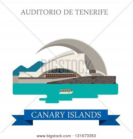 Auditorio de Tenerife Canary Islands vector Africa attraction