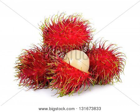 Rambutan Isolated On The White Background
