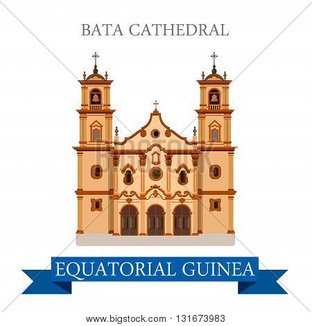 Bata Cathedral Equatorial Guinea vector flat Africa attraction
