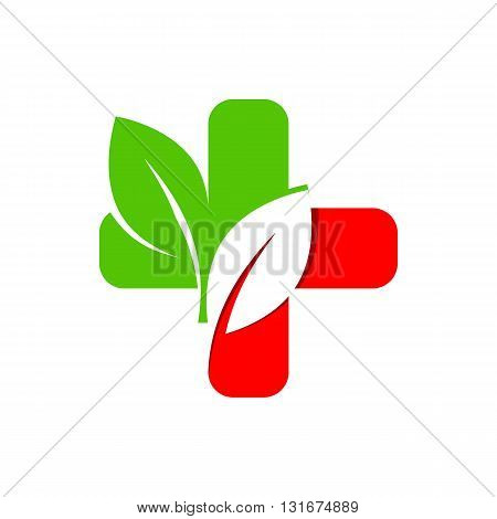 Logo design medical healthy care patient check up