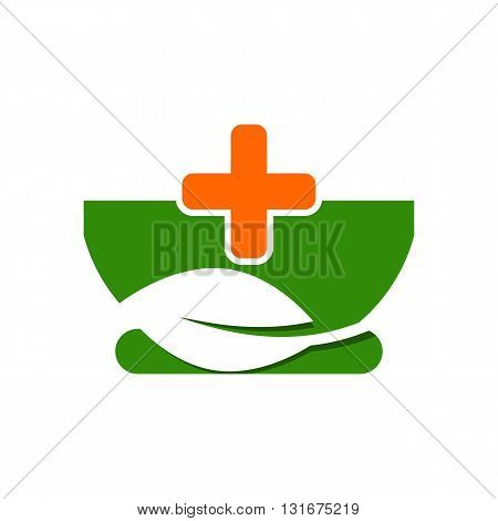 Logo design medical healthy care patient check up pharmacy