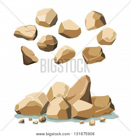 rock and stone set for web and print