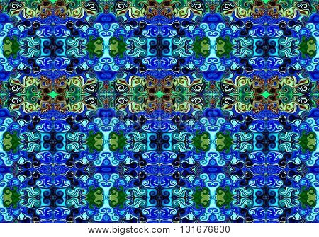 Oriental patterns - the language of the soul The picture shows the oriental patterns mainly multicolored colors.