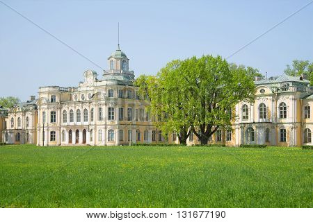 SAINT PETERSBURG, RUSSIA - MAY 20, 2014: The may sunny day in the old Imperial estate