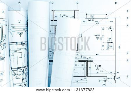 Architectural Blueprint Rolls And Plan