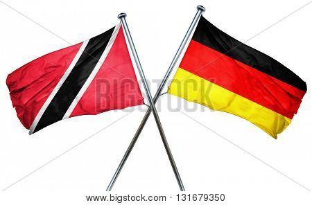 Trinidad and tobago flag combined with germany flag, 3D renderin