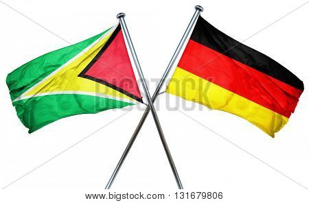 Guyana flag  combined with germany flag, 3D rendering