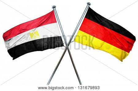 Egypt flag  combined with germany flag, 3D rendering