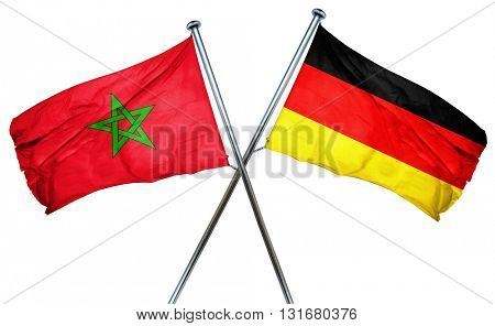 Morocco flag  combined with germany flag