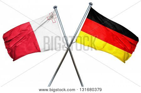 Malta flag  combined with germany flag