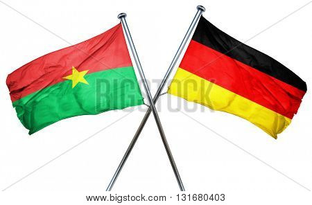 Burkina Faso flag  combined with germany flag