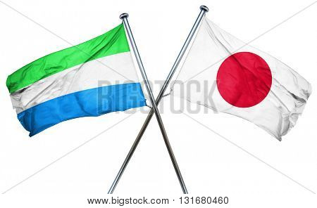 Sierra Leone flag  combined with japan flag