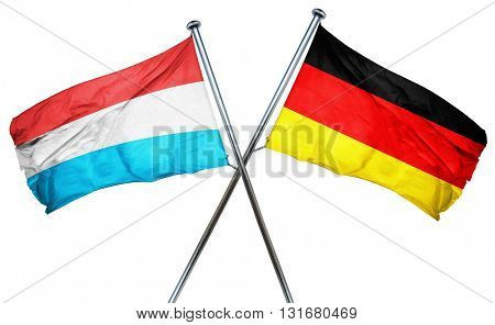 Luxembourg flag  combined with germany flag