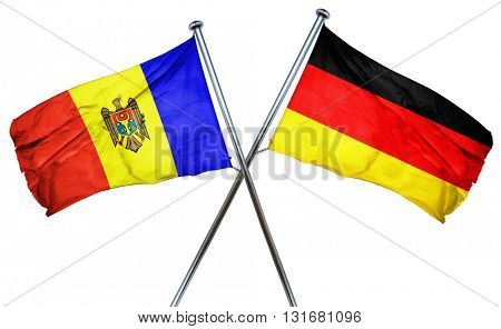 Moldova flag  combined with germany flag