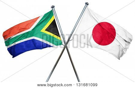 South africa flag  combined with japan flag