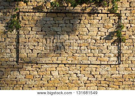 Beige Stone Wall
