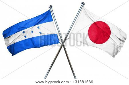 Honduras flag  combined with japan flag