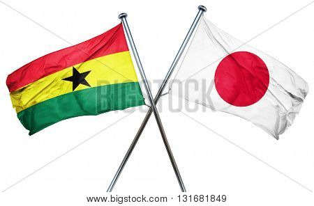 Ghana flag  combined with japan flag
