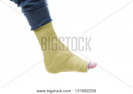 Yellow Leg Cast
