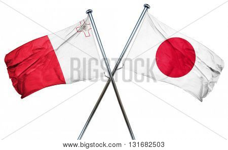 Malta flag  combined with japan flag