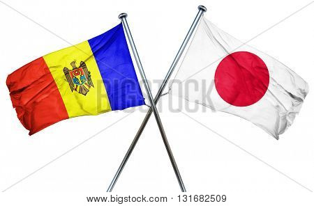 Moldova flag  combined with japan flag