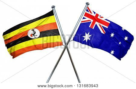 Uganda flag  combined with australian flag