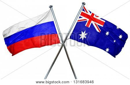 Russia flag  combined with australian flag