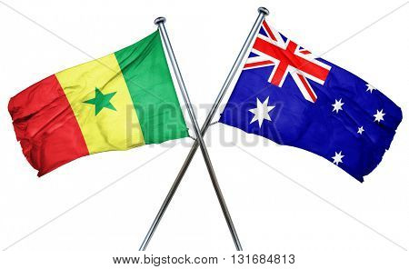 Senegal flag  combined with australian flag