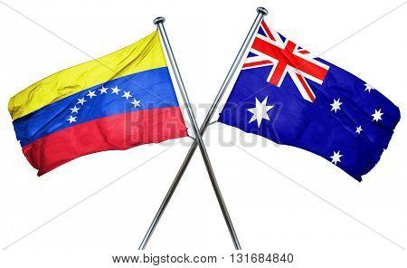 Venezuela flag  combined with australian flag