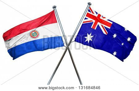 Paraguay flag  combined with australian flag