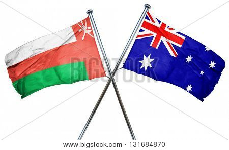Oman flag  combined with australian flag