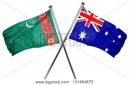 Turkmenistan flag  combined with australian flag