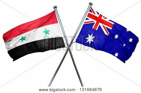 Syria flag  combined with australian flag